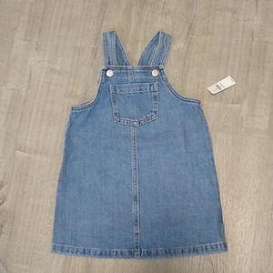 Nwt Old Navy 4T jean denim skirtall jumper dress